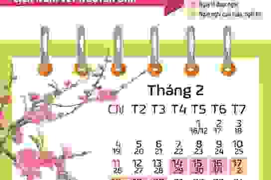Lịch nghỉ Tết Tân Sửu: Bộ LĐ-TB&XH đề xuất nghỉ trước Tết 2 ngày
