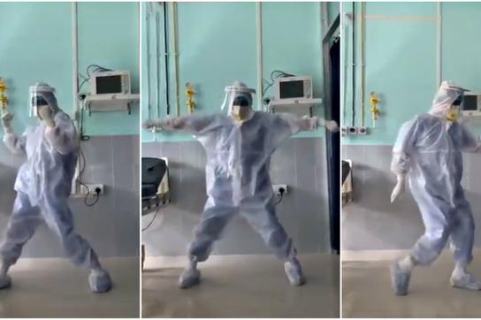 Cực hot video bác sĩ Ấn Độ nhảy múa cho bệnh nhân Covid-19 bớt sợ