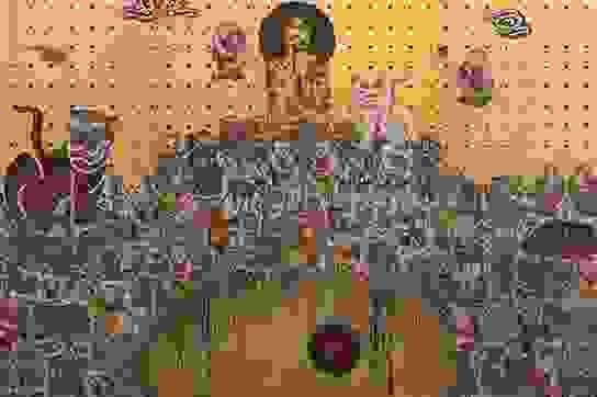 Ấn tượng tranh dát vàng tại triển lãm của hoạ sĩ Bùi Thanh Tâm