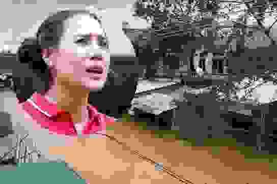 Diễn viên Hồ Bích Trâm bật khóc khi quê nhà tan hoang trong bão số 9