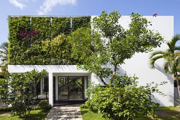 Biệt thự ở ngoại thành Sài Gòn phủ kín cây xanh, ai nhìn cũng mê mẩn