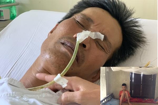 Xót xa cảnh người vợ khóc cạn nước mắt vì chồng, con ung thư