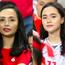 Hai chị em ruột là vợ và bạn gái tuyển thủ Việt Nam khoe sắc tại SVĐ Mỹ Đình