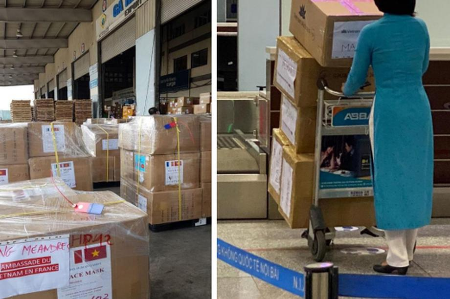 Pháp cảm ơn Việt Nam tài trợ, vận chuyển miễn phí 250.000 khẩu trang