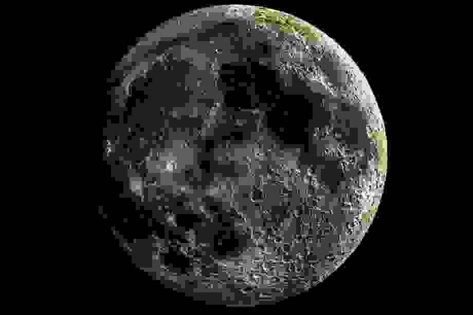 """Bức ảnh """"siêu thực"""" của bề mặt Mặt Trăng"""