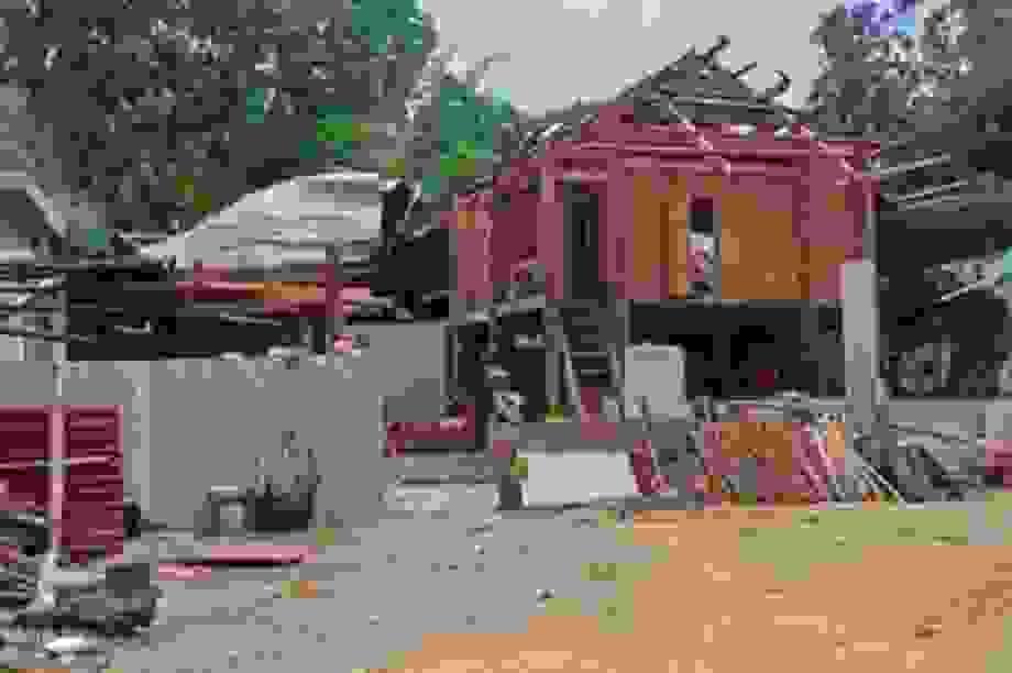 Hơn 60 nhà dân bị giông lốc làm hư hỏng, tốc mái