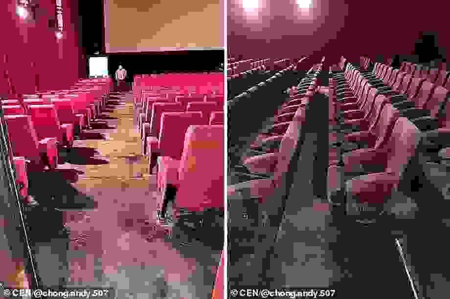 Rạp chiếu phim nấm mốc phủ đầy sau quãng thời gian đóng cửa