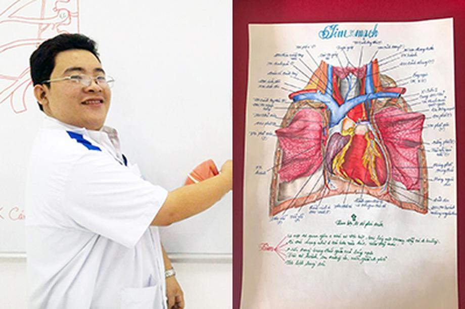 Nam sinh có biệt tài vẽ giải phẫu cơ thể người chi tiết khó tin