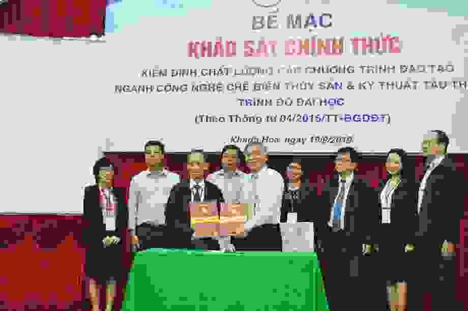 ĐH Nha Trang: 2 chương trình đào tạo được cấp chứng nhận kiểm định