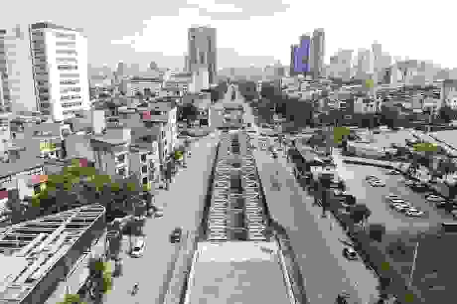"""Diện mạo cầu cạn 560 tỷ đồng giúp hóa giải """"nút thắt"""" tại trung tâm Hà Nội"""