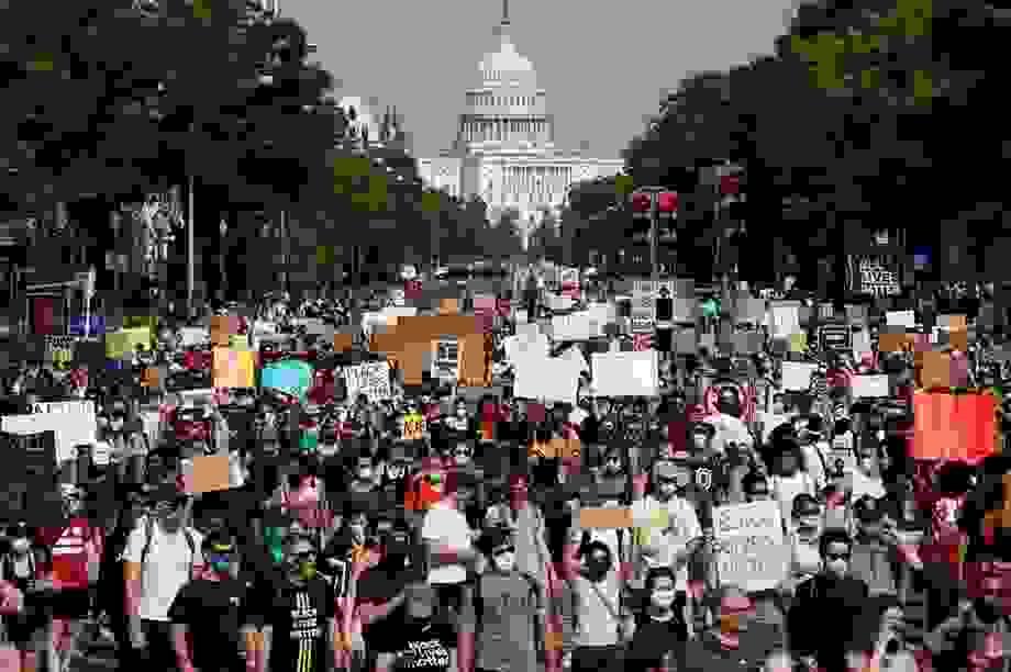 Thủ đô Washington đối phó biểu tình quy mô cực lớn