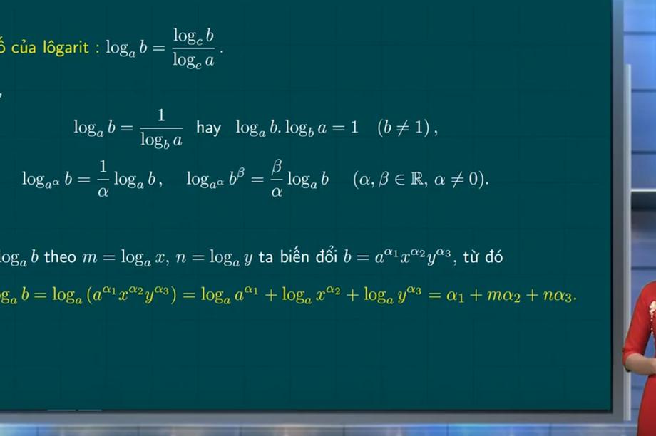 Ôn tập môn Toán thi tốt nghiệp THPT: Một số dạng toán thường gặp về lôgarit