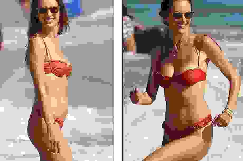 Alessandra Ambrosio gợi cảm đi tắm biển cuối tuần