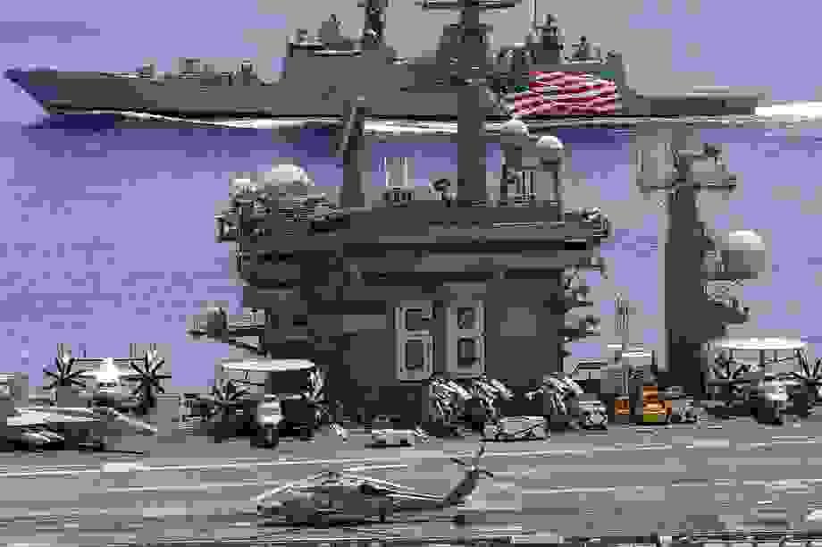 Tàu sân bay Mỹ tập trận với Ấn Độ tại eo biển Malacca