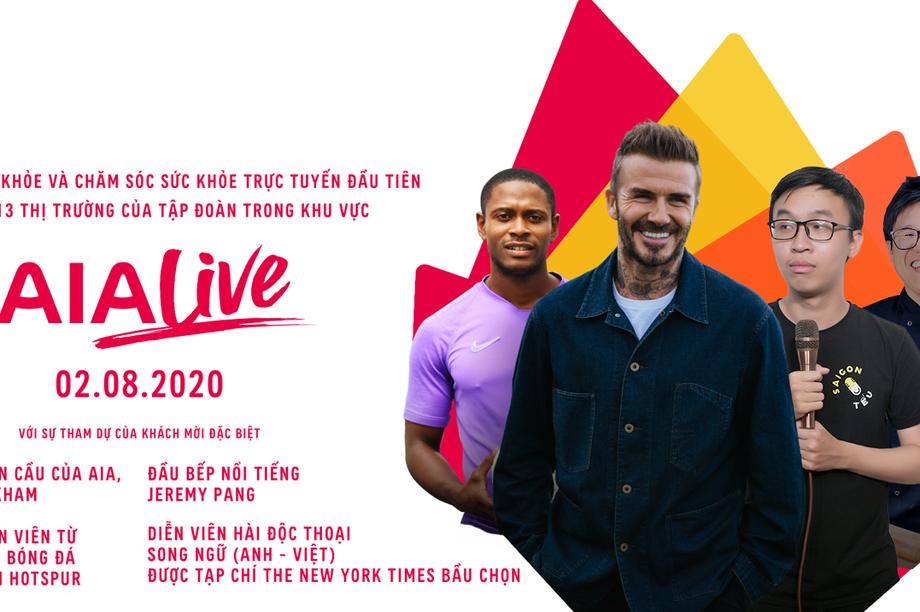 David Beckham sẽ xuất hiện trong sự kiện sống khỏe trực tuyến của Tập đoàn AIA