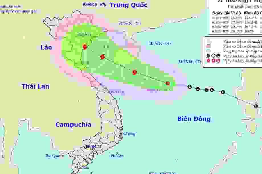 Hình thành áp thấp nhiệt đới tại Biển Đông