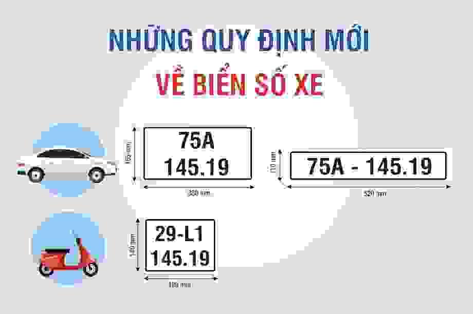 Biển số xe - Những quy định mới cần biết