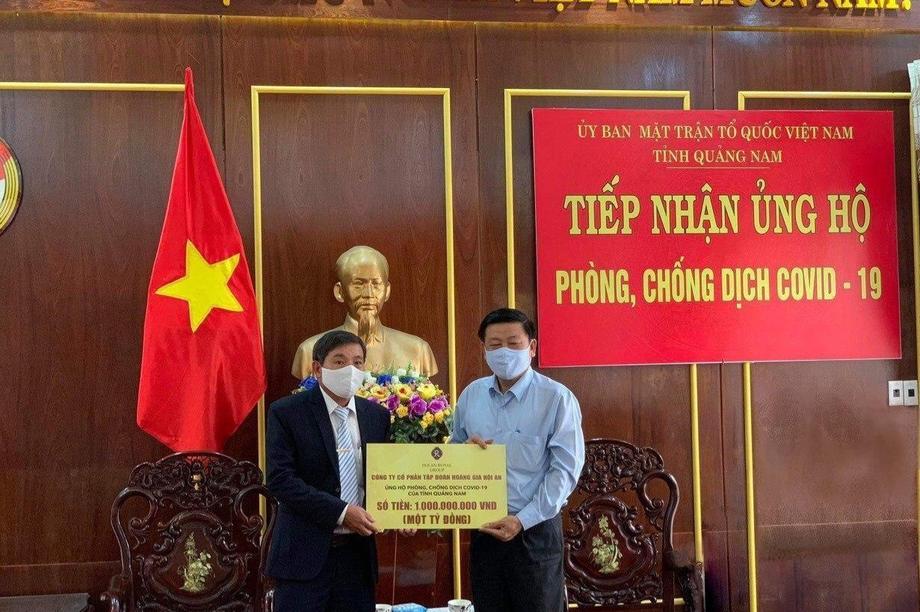 Tập đoàn Hoàng Gia Hội An chung tay cùng tỉnh Quảng Nam chống dịch Covid-19