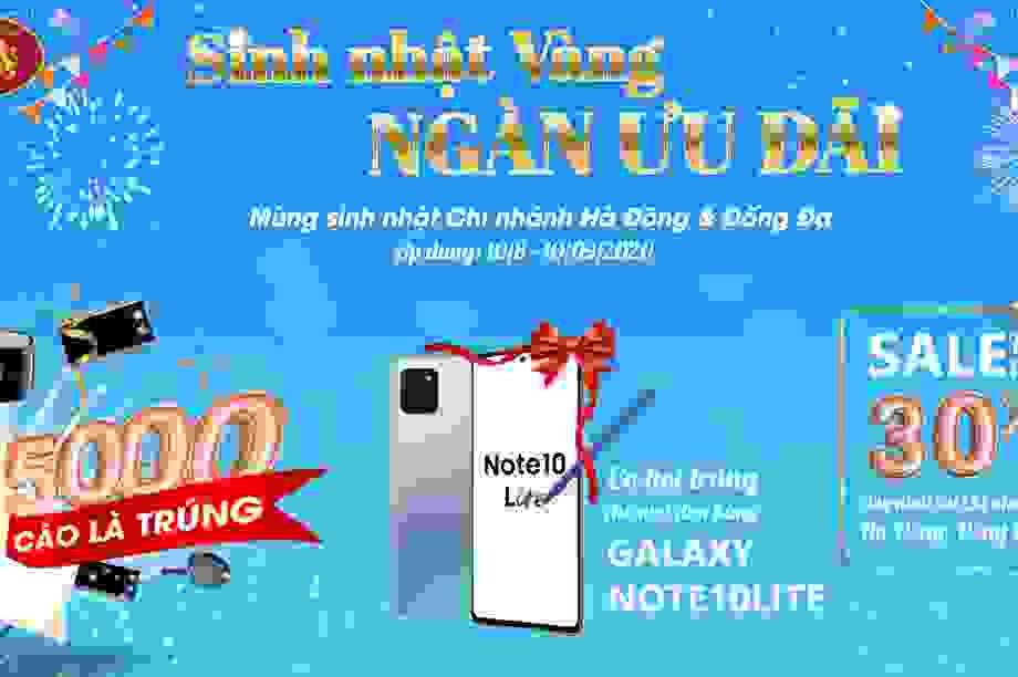 Mua trang sức & vàng tích trữ: Giảm giá tới 30% và cơ hội trúng Samsung Galaxy Note 10 Lite