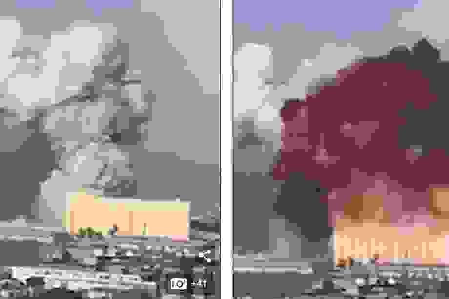 """Tiếng nổ """"như bom"""" từ Li Băng cách xa 250 km vẫn nghe thấy"""