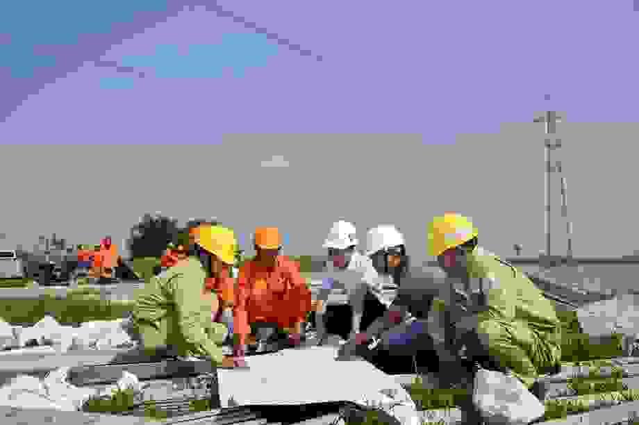 Đẩy nhanh tiến độ thi công Dự án đường dây 500kV Tây Hà Nội - Thường Tín