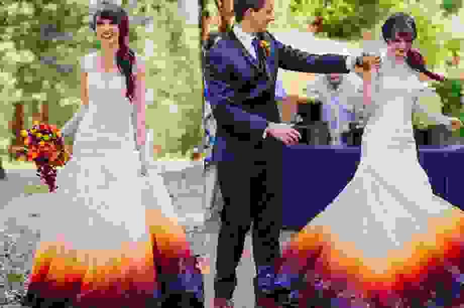 Khởi nghiệp từ bộ váy cưới độc đáo của chính mình