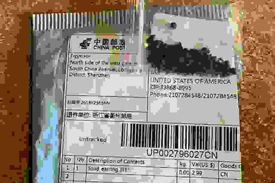 Mỹ phát hiện cỏ gây hại, ấu trùng bọ trong gói hạt nghi gửi từ Trung Quốc