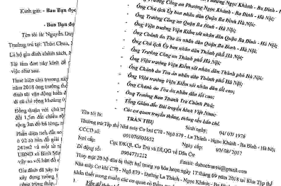 Nhịp cầu bạn đọc số 12: Đề nghị Công an huyện Thanh Trì vào cuộc khách quan