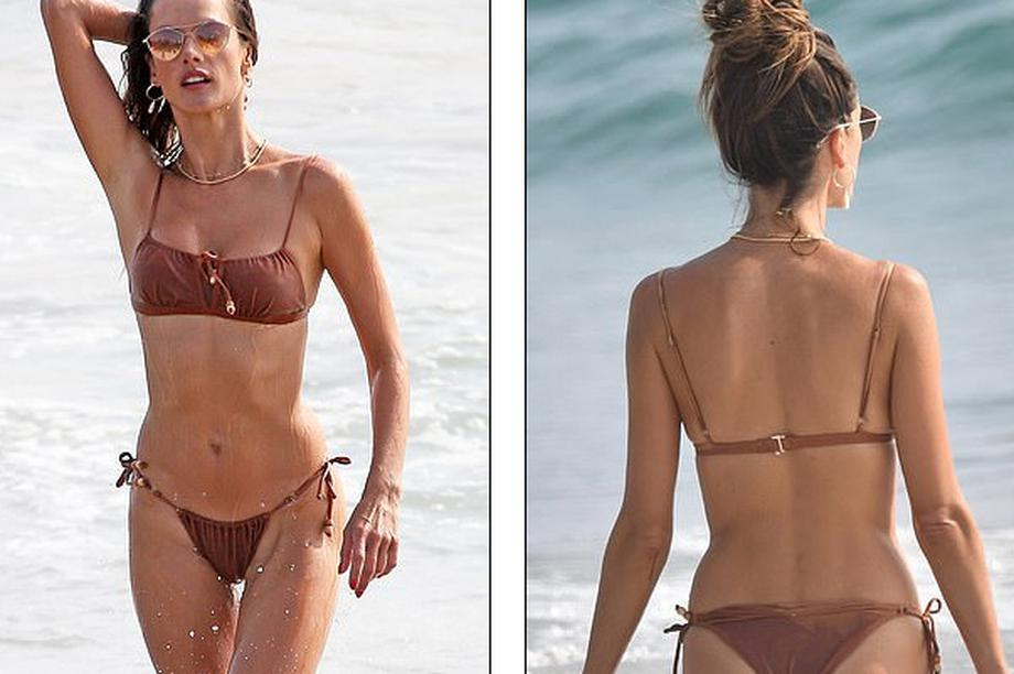 """""""Thiên thần"""" Alessandra Ambrosio gợi cảm với áo tắm"""