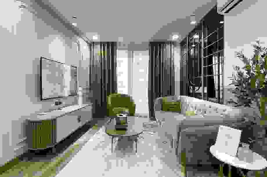 Độc đáo căn hộ màu xanh đẹp như tranh của vợ chồng trẻ Sài Gòn