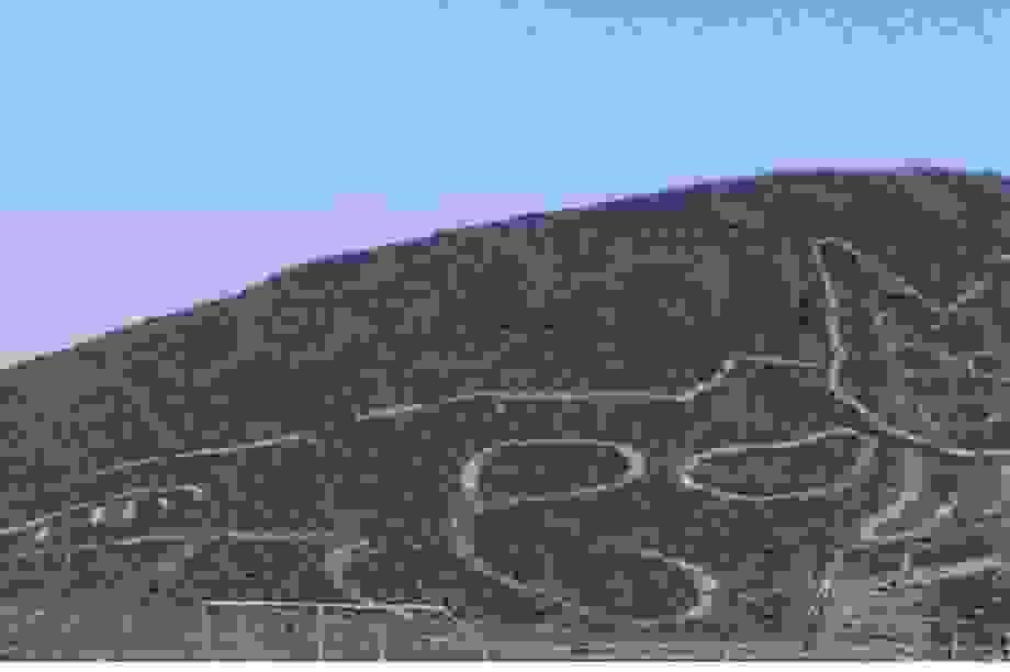 Hình vẽ khổng lồ con mèo kì lạ xuất hiện ở sa mạc Nazca