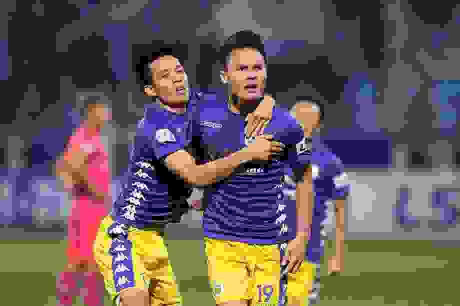 Hà Nội FC 4-2 Sài Gòn FC: Mưa bàn thắng ở Hàng Đẫy