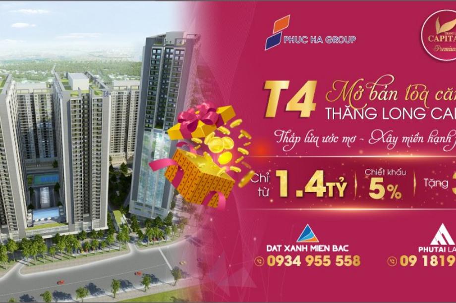Chính thức mở bán căn hộ tòa T4 Thăng Long Capital, đợt 1 giá tốt ra mắt cư dân Thủ Đô