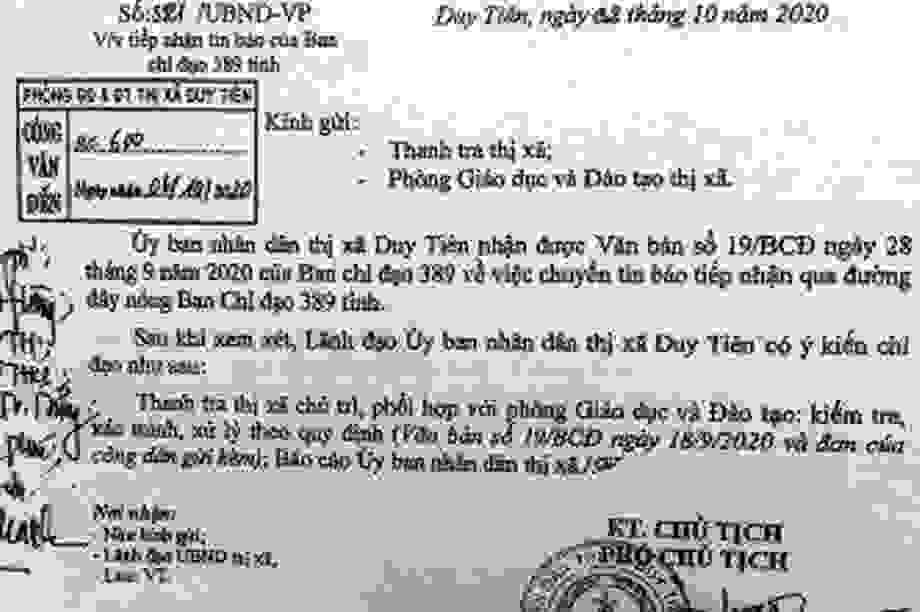 Vụ sách giả tại Hà Nam: Không ép phụ huynh, học sinh đăng ký mua vở bài tập